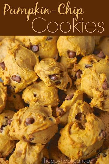 Pumpkin Chip Cookies - Happy Hooligans