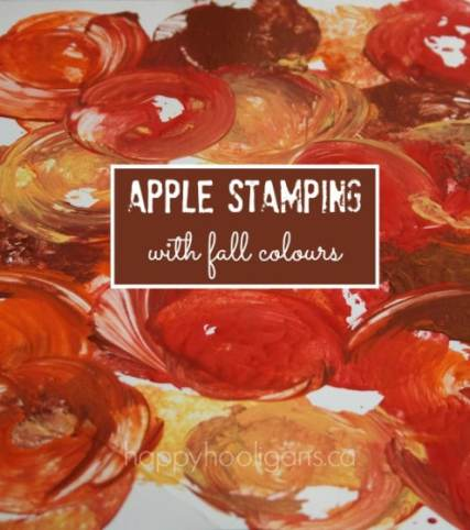 Fall colour apple stamping