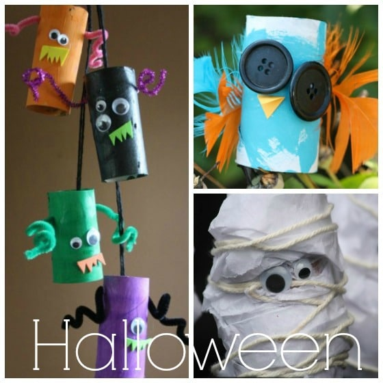 halloween crafts with cardboard tubes
