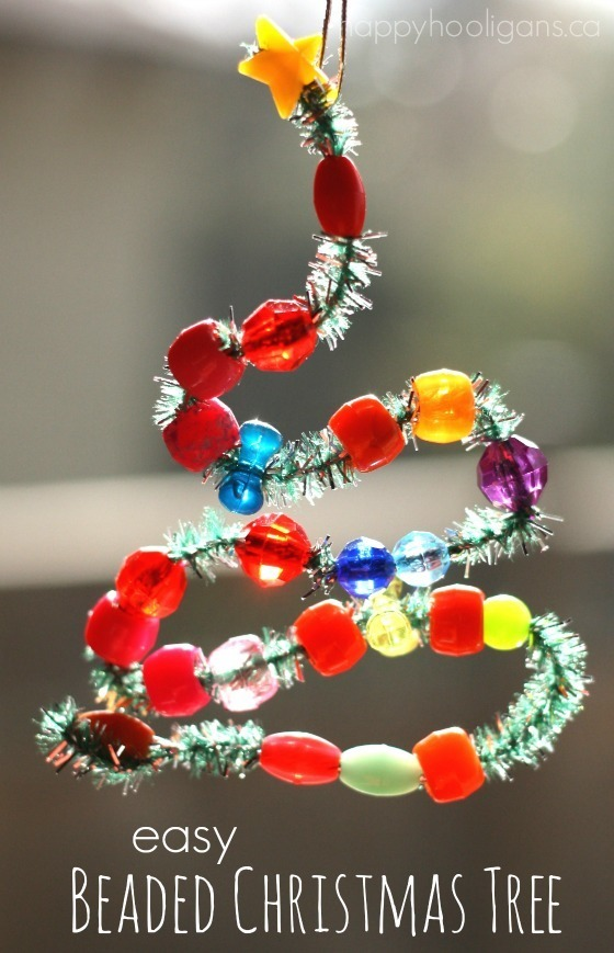 Bead And Pipe Cleaner Ornaments Happy Hooligans