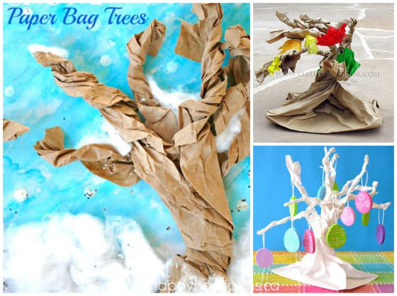 How to make a tree out of a paper bag copy