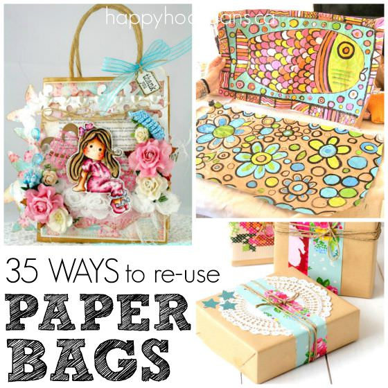 Pretty crafts with paper bags copy