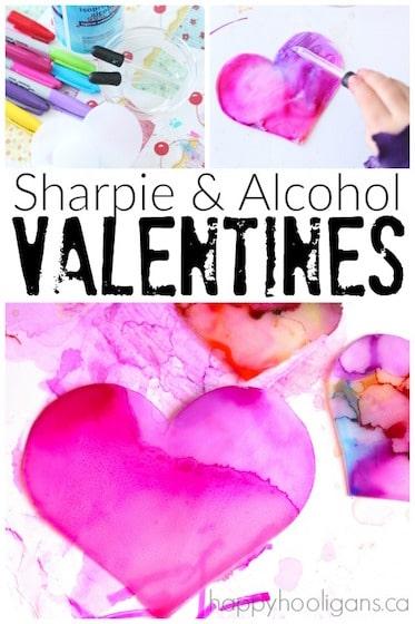 Sharpie and Alcohol Valentines Art Activity - Happy Hooligans