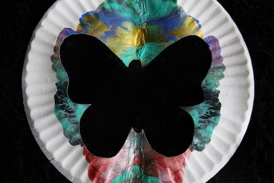 Paper Plate Butterfly Silhouette Art For Kids Happy