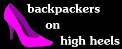 Backpackers on high heels