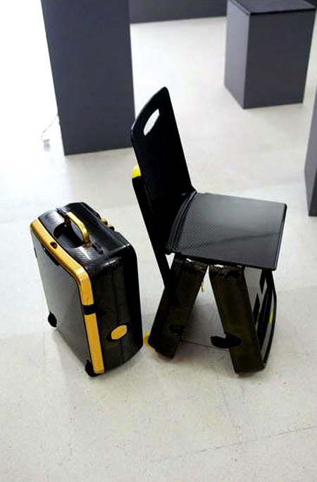 Suitcase Trolley with built in Chair