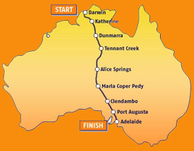 World Solar Challenge Map