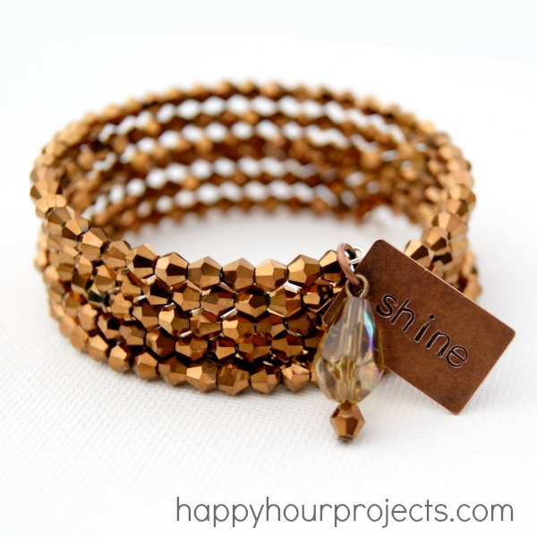 Bronze Memory Wire Bracelet by Happy Hour Projects