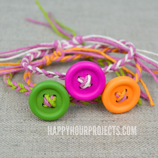 Easy DIY Button Friendship Bracelets Happy Hour Projects