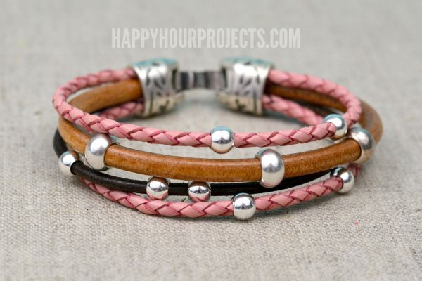 Image result for beaded leather bracelet