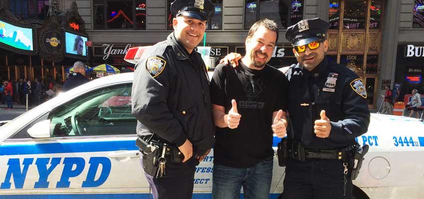 Happy Joe with NYPD