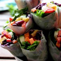 Vegan Spring Rolls with Peanut Sauce