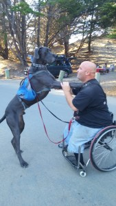 David with his service dog Giant