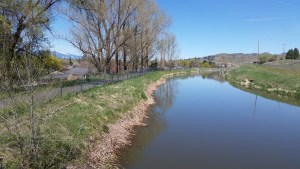 Walking path along the river in Klamath Falls, OR