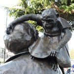 Emily Carr's statue - her monkey Woo