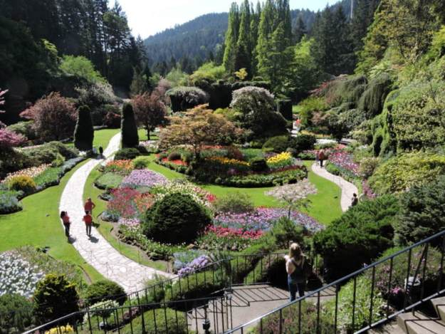 The Sunken Garden in The Buchart Gardens