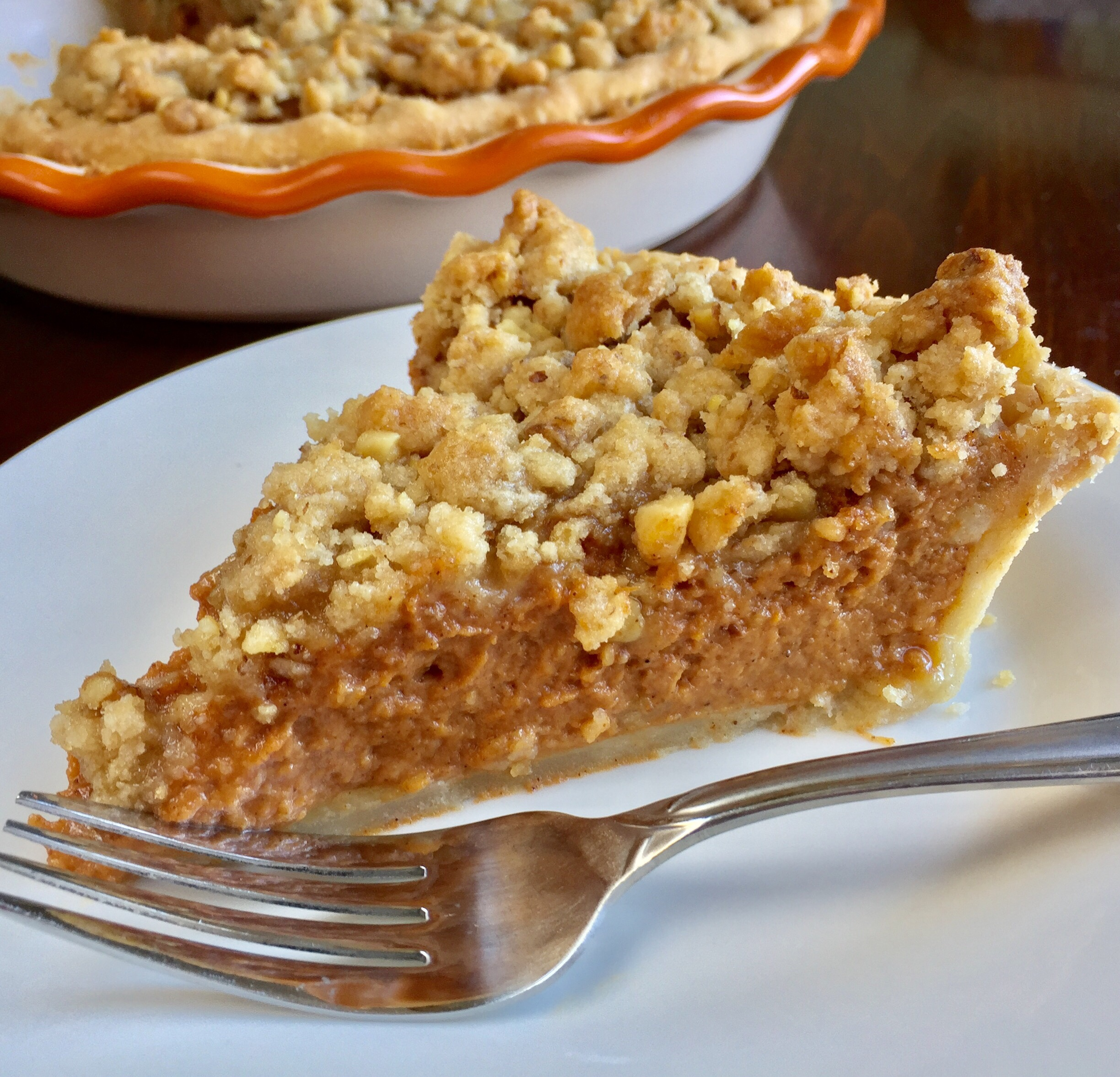 Ginger Streusel Pumpkin Pie
