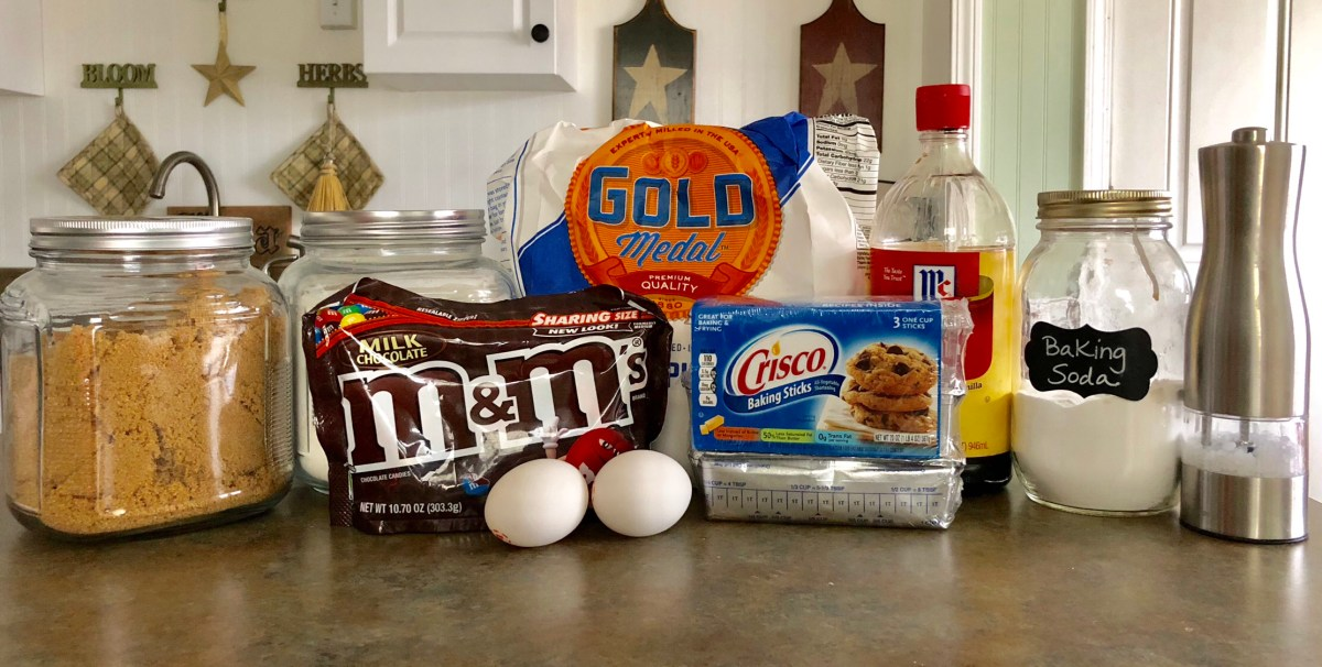 Chewy M&M Cookies ingredients list