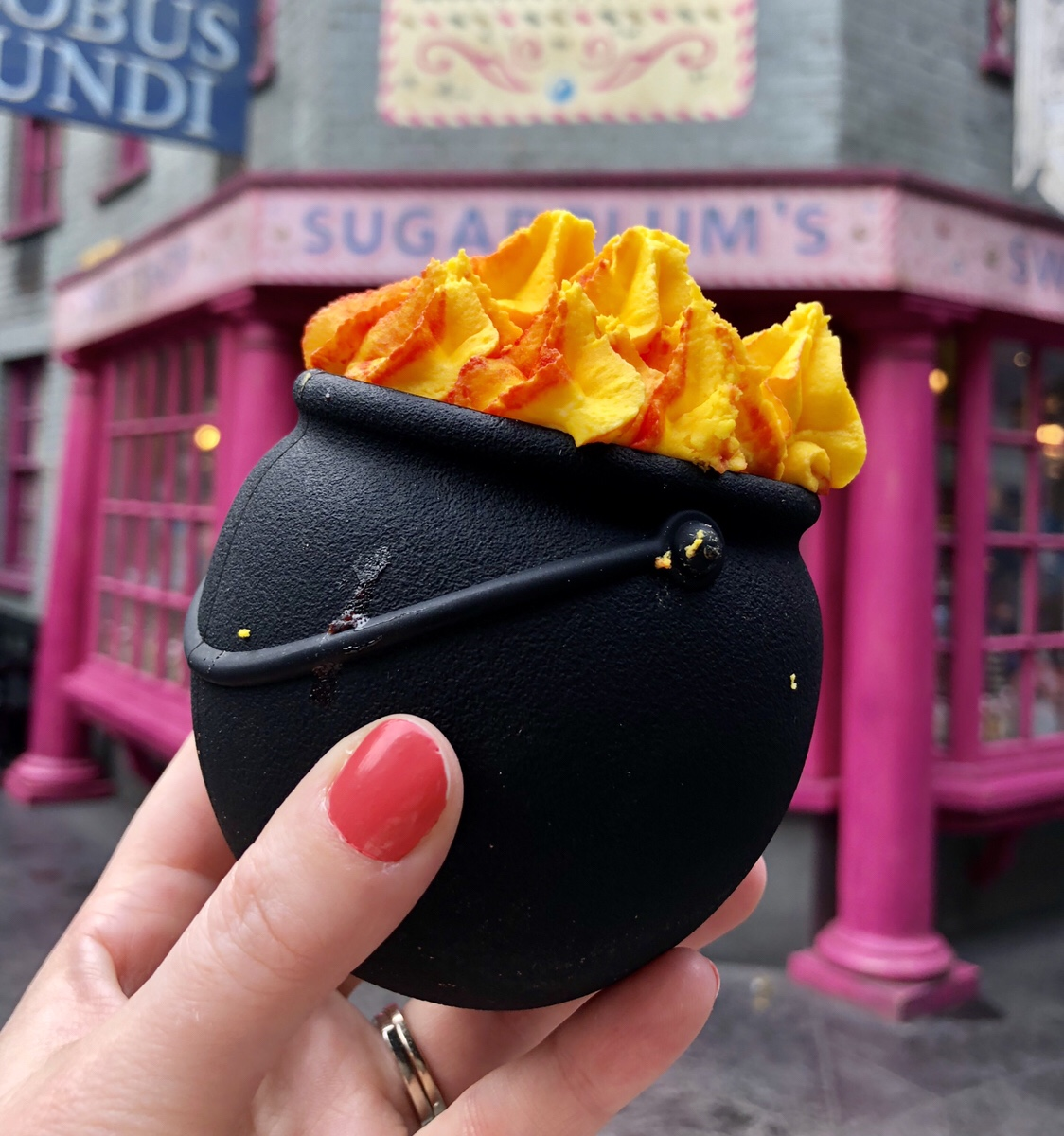 Chocolate Cauldron | Sugarplum's Sweet Shop #harrypotter #chocolatecauldron #sugarplums #universalorlando #wizardingworldofharrypotter