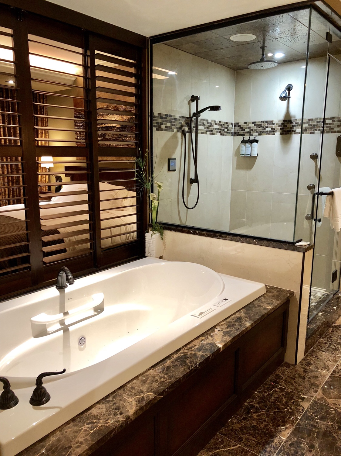Bathrooms are outfitted with high tech features at the Curtiss Hotel. #curtisshotel #buffalostaycation #westernny #girlsweekendbuffalo #buffalony