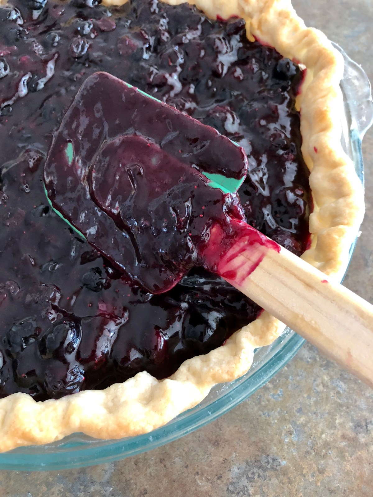 Fresh Blueberry Pie by Happylifeblogspot@yahoo.com #blueberrypie #freshblueberrypie #dessert #pie #summerdessert