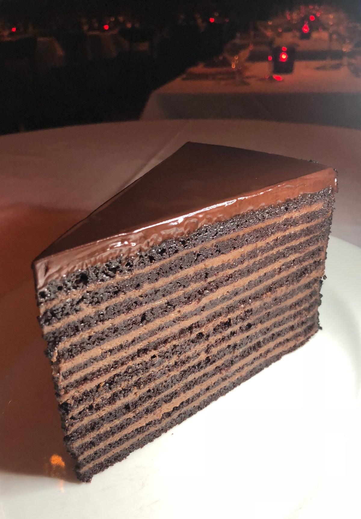 24 Layer Chocolate Cake | Strip House at Planet Hollywood #24layercake #bestdessertsinvegas #bestdessertlasvegas #chocolatecakelasvegas #striphousecake