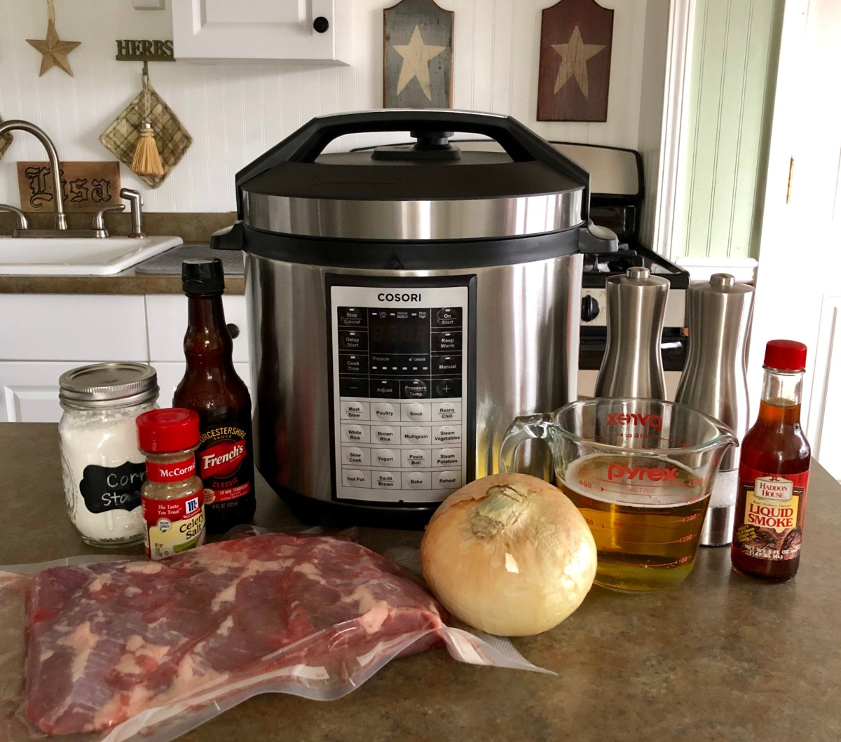 List of Ingredients Pressure Cooker Beef Brisket