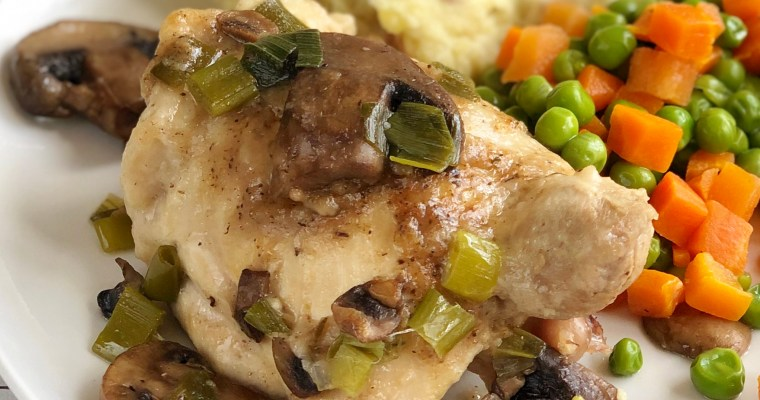 Pressure Cooker White Wine Chicken Thighs