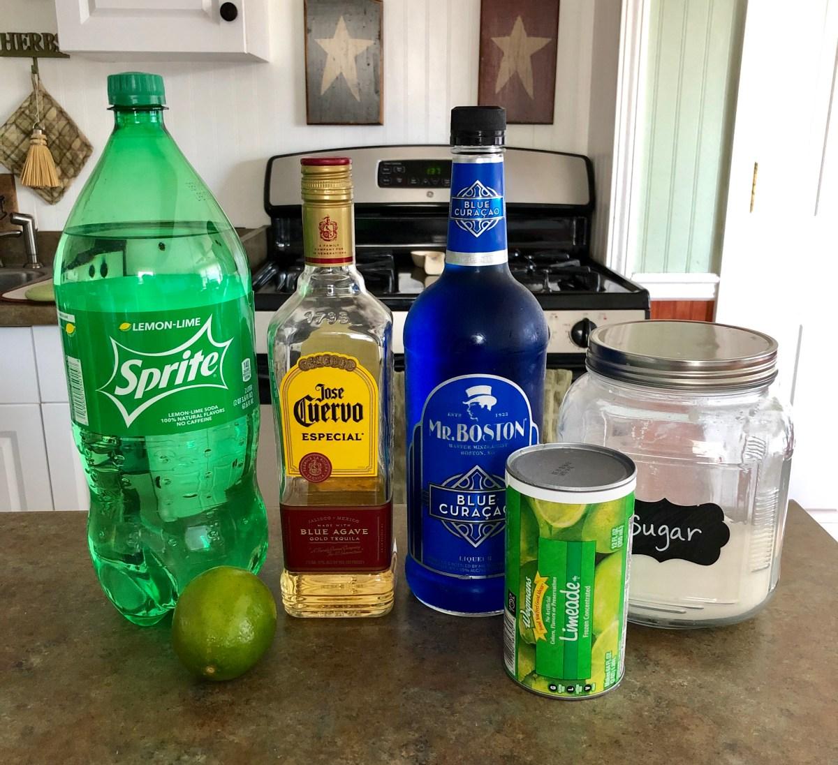Blue Lagoon Margaritas ingredients list