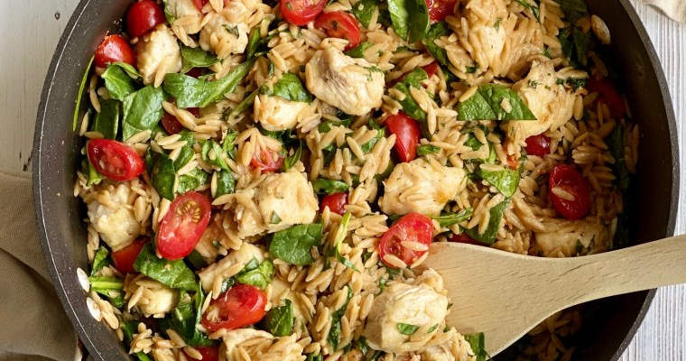 One-Pot Lemon Chicken with Orzo