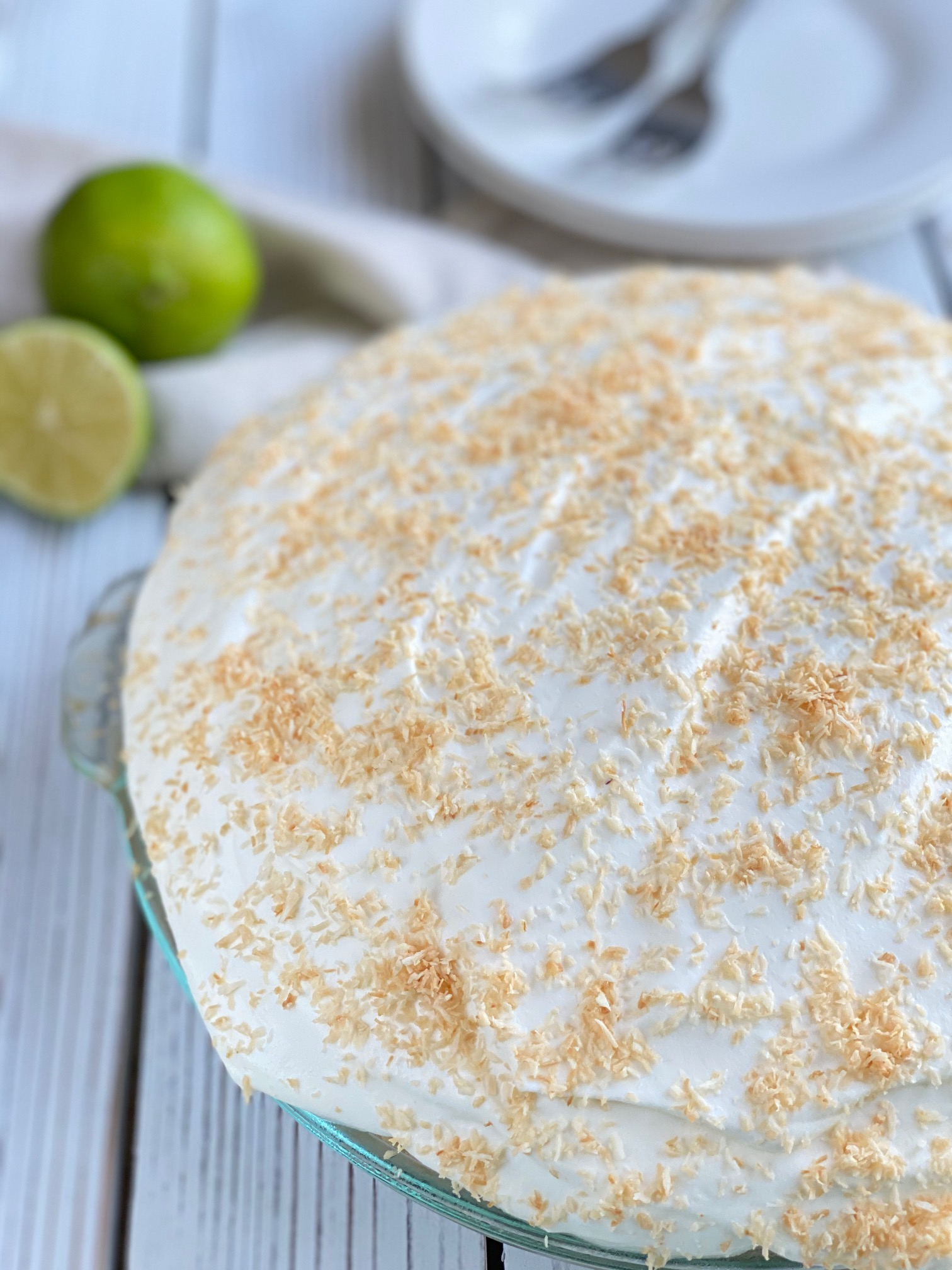 No Bake Key Lime Cream Pie