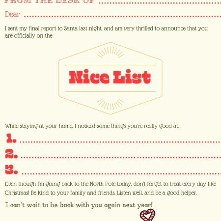 Letter from Elf to kid