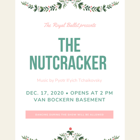Personalized poster for the Nutcracker ballet