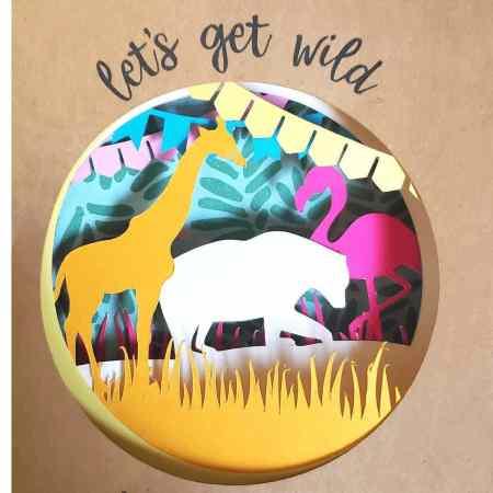Picture of zoo animal invitation