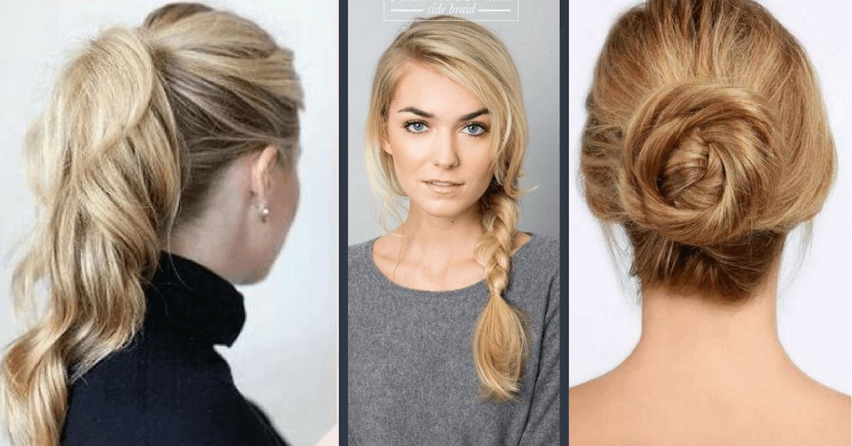 20 jednoduchých účesů pro polodlouhé vlasy do 5 minut