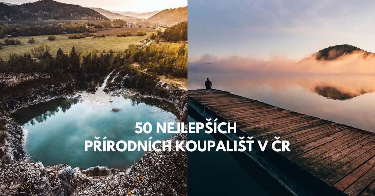 50x nejlepší přírodní koupaliště v ČR roku 2020