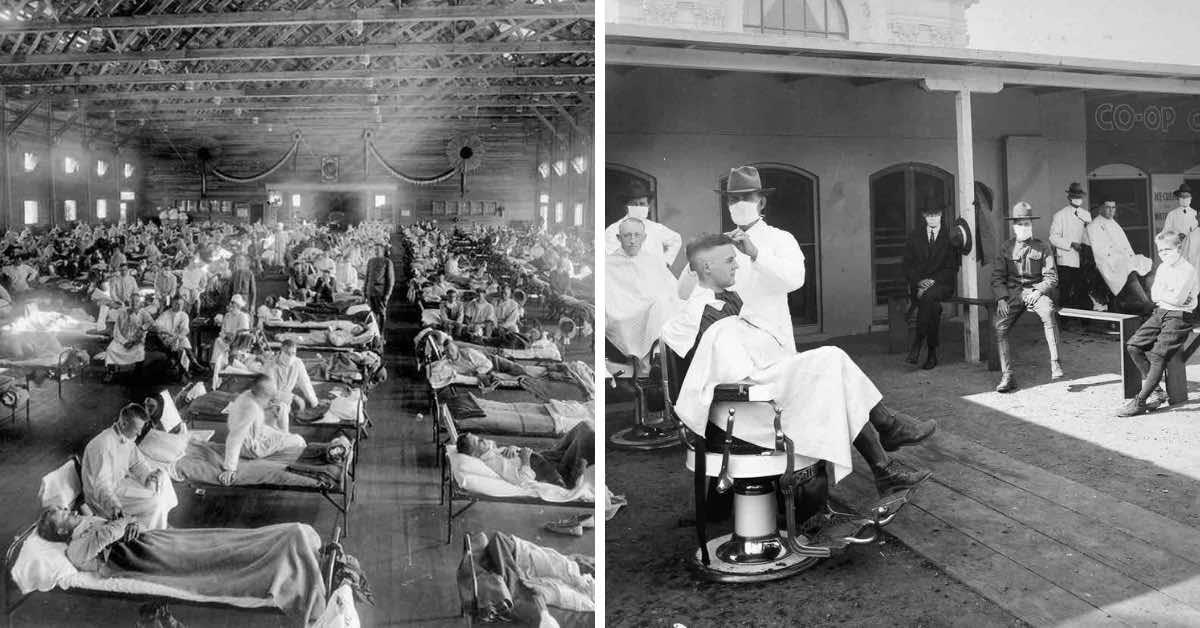 6 fascinujících fotek, jak si lidé poradili se španělskou chřipkou