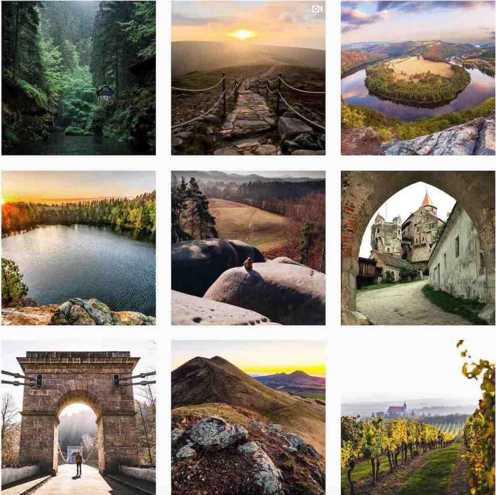 Úžasná místa v Česku