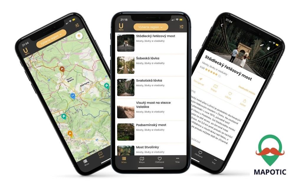 aplikace úžasná místa iphone