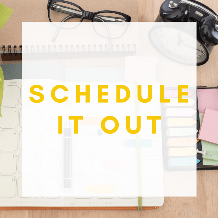 3. SCHEDULE IT OUT - This is the best way to let yourself, and others, know that your hobby is important to you and worth your time and dedication. It's also the simplest way to see when you have a clear spot in your busy life and mindfully seize it.Seeing your hobby scheduled on a calendar allows you to keep it top of mind and allocate time for it accordingly.