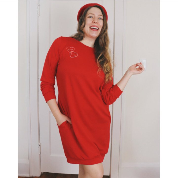You Baby: My Billie Sweatshirt Dress from Tilly and the Buttons