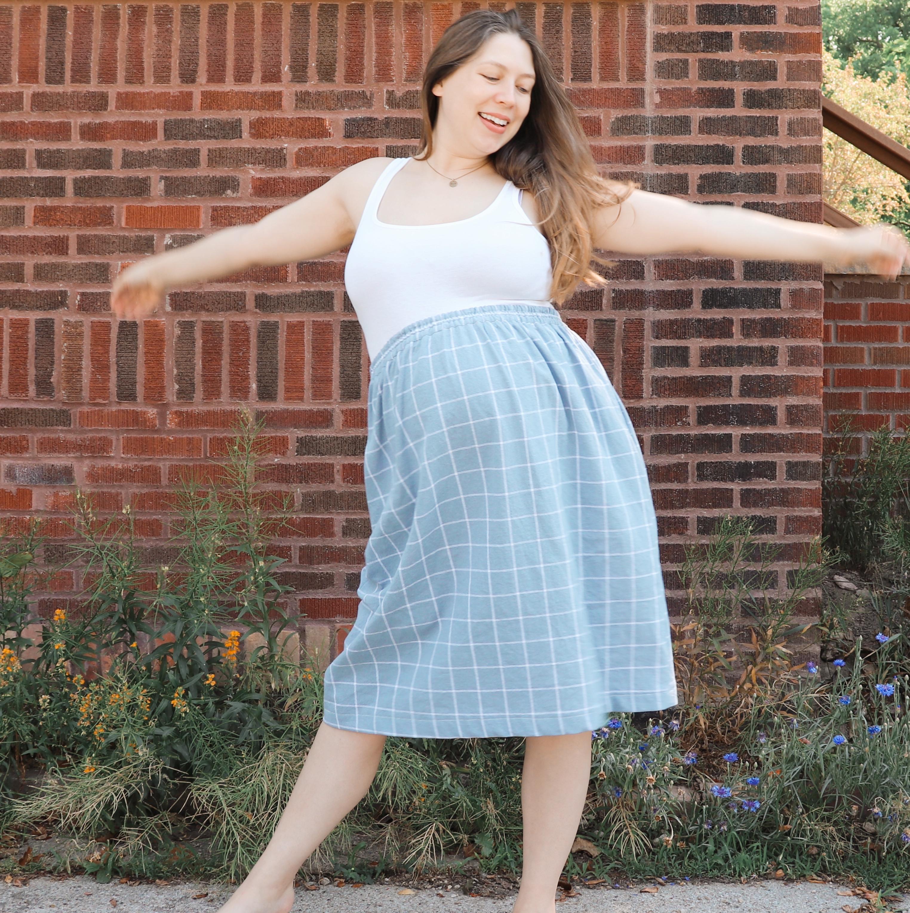 diy elastic waist skirt tutorial