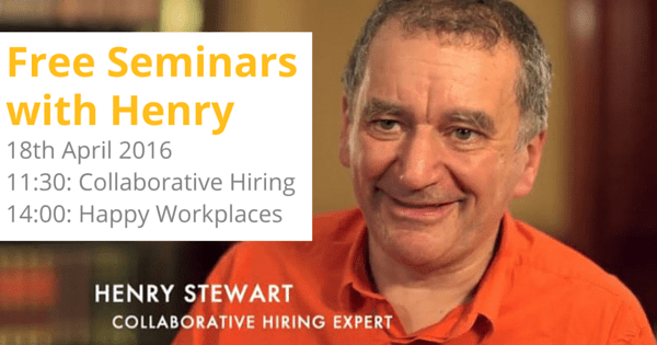 New Event – Free seminars with Henry in April