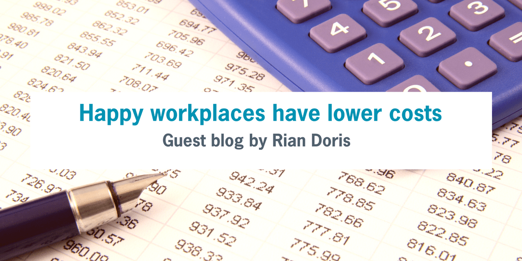 Happy Workplaces Have Lower Costs