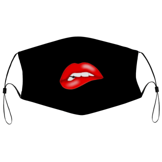 sexy red lips cloth face mask