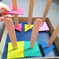 New Product - Upcycled biscuit box lid for fine motor skill practice - HKD30 (not including postage )