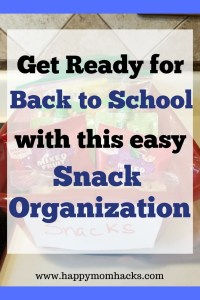 Make your life easier with this simple snack organization ideas for kids. #snackorganizationideas, #organization, #kids