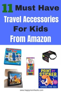 Best Travel Accessories and road trip games for kids you can easily get through Amazon. Don't stress about upcoming road trips or long plane flights be prepared with things to do to keep the kids busy on family vacation. You'll love all these fun gadgets and toys from Amazon! #travelaccessories, #familyvacation, #traveltips