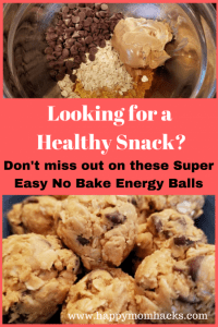 Need a Healthy Snack? Try these easy no bake peanut butter Energy Balls. These 4 ingredient snacks are so delicious your whole family will love them!