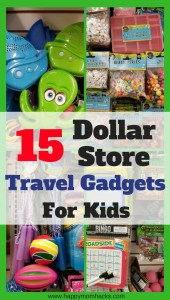 Need to entertain your kids on your next trip? Pick up these 15 Dollar Store Travel Gadgets and Accessories for your kids. Save money and keep everyone happy using these travel hacks and ideas on your next family vacation. #DollarStore, #TravelHacks, #FamilyTravel,#traveltips, #dollartree, #familyvacation